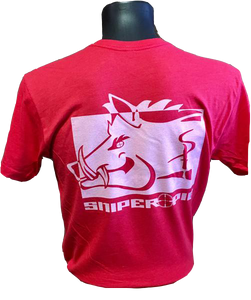 Red Short Sleeve Sniper Pig T-shirt
