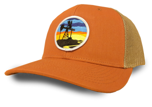Orange & Khaki Sunset Patch