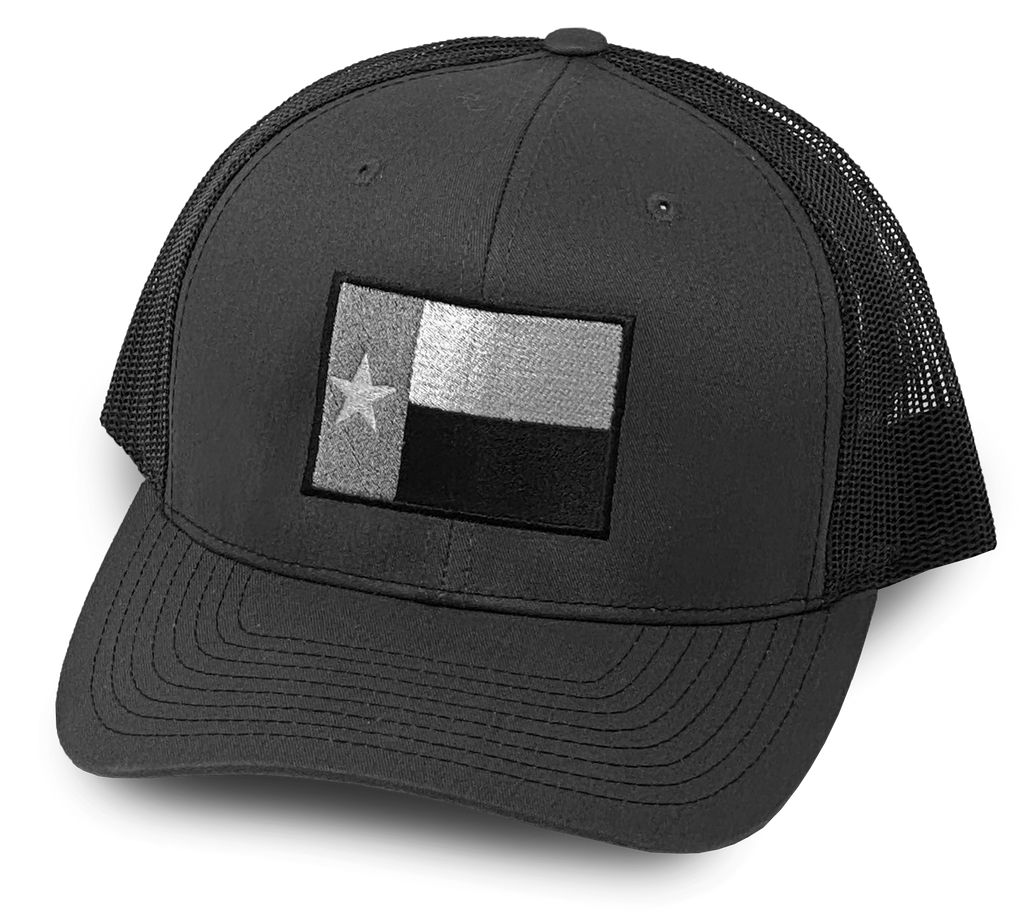 Gray/Black Texas Flag