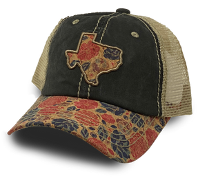 Texas Rose Fabric - Weathered Hat