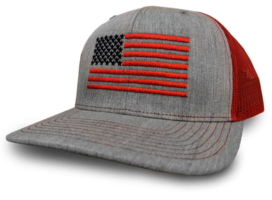 US Flag Heather Gray & Crimson