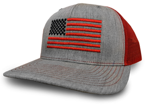 144629cb479 US Flag Heather Gray   Crimson
