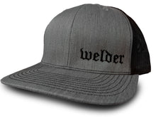 Black Grey Welder Hat