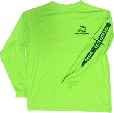 Sniper Pig Long Sleeve Dry Fit Shirt Green