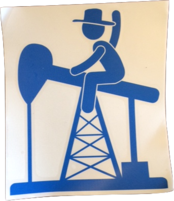 6 x 6 Blue PJ Cowboy Sticker