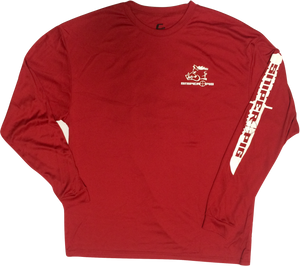 Sniper Pig Long Sleeve Dry Fit Shirt Red/White