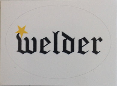Welder Hardhat Sticker