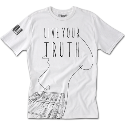 Live Your Truth White Tee
