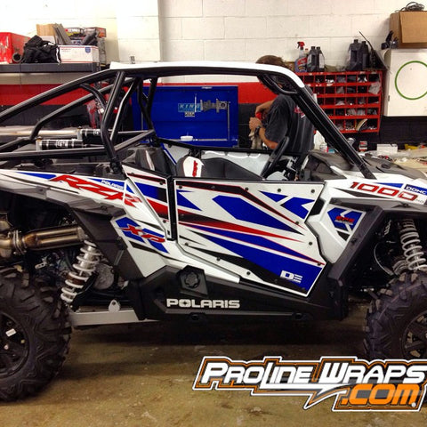 POLARIS XP 1000 / XP 4 STOCK DOOR GRAPHICS KIT - PROLINE WRAPS