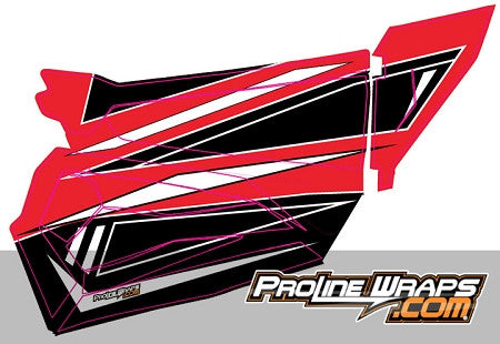 POLARIS RZR 900S STOCK DOOR GRAPHIC KIT - PROLINE WRAPS - SIKK RIDES.COM