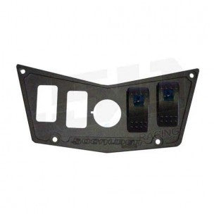 4 SWITCH DASH PANEL BLACK - 50 CAL RACING