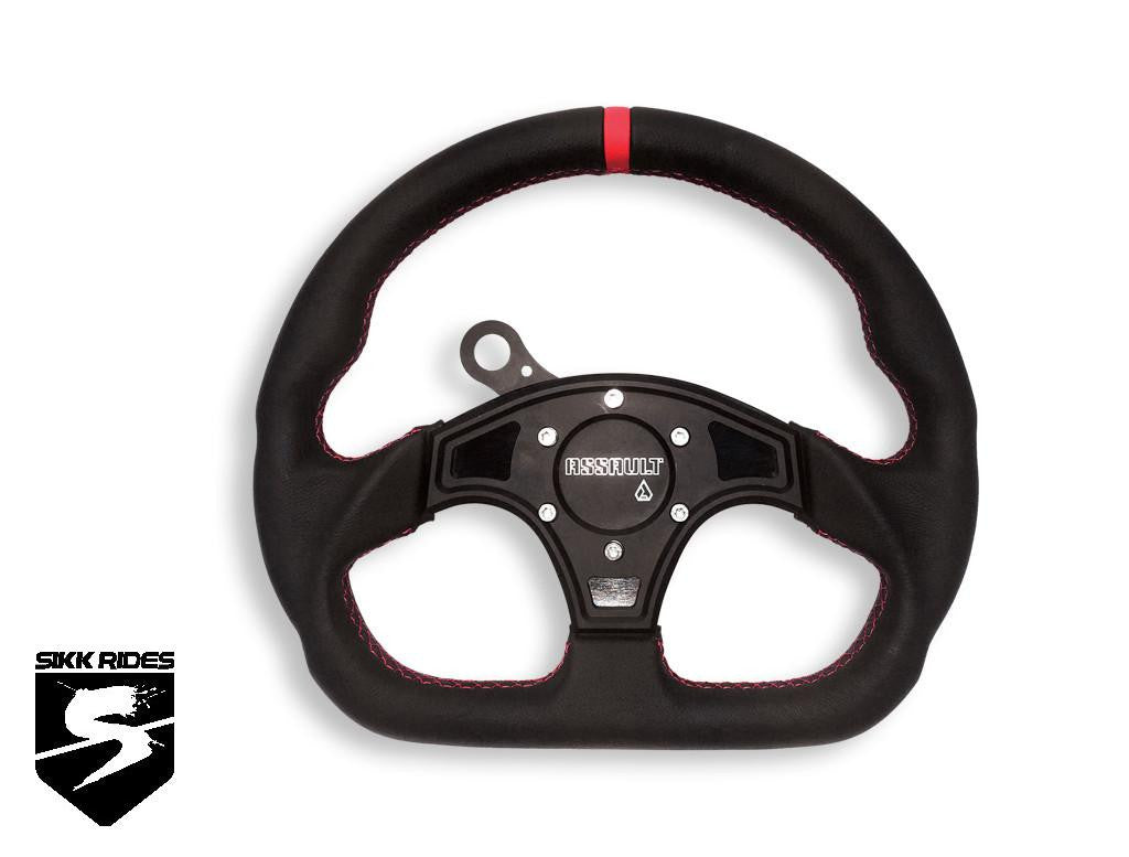 BALLISTIC D SHAPE STEERING WHEEL / HUB COMBO - ASSAULT INDUSTRIES - SIKK RIDES.COM
