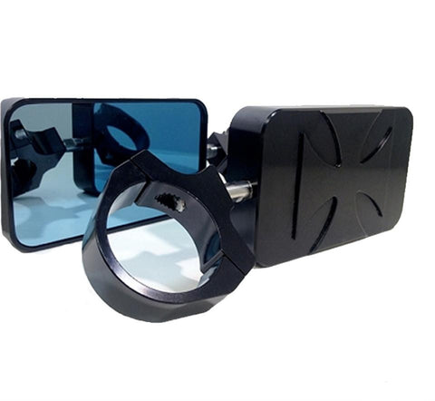 IRON CROSS  RED BARON REAR VIEW MIRRORS - BADASS UNLIMITED