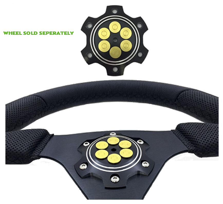 SIX SHOOTER STEERING WHEEL FACE PLATE - BADASS UNLIMITED - SIKK RIDES.COM