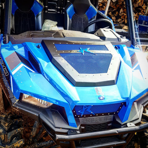 POLARIS GENERAL MESH HOOD/ GRILL COMBO-ROGUE OFFROAD