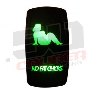 ROCKER SWITCH ON/OFF NO FAT CHICKS - 50 CAL RACING