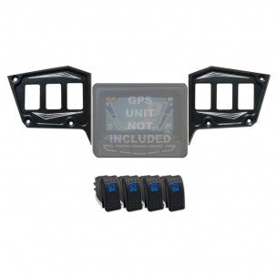 POLARIS XP 1000 / 900S DASH PANEL GPS 2 PIECE WITH SWITCHES - 50 CAL RACING - SIKK RIDES.COM