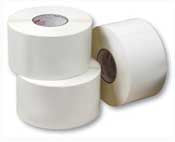 60mm x 28mm white synthetic waterproof thermal transfer permanent labels (2000 labels per roll - 38mm core - box of 10 rolls)