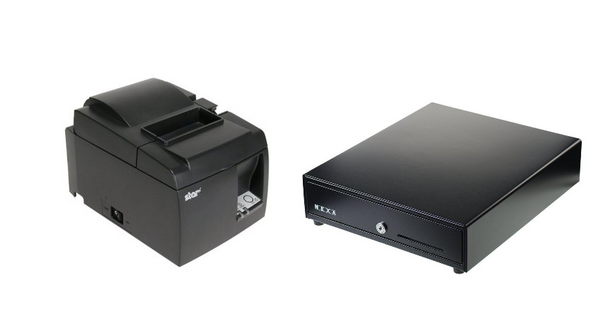 Shopify basic hardware bundle with Star printer and cash drawer