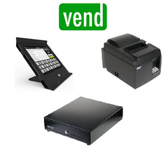 Vend Slide iPad hardware bundle with Star printer and cash drawer