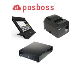 Posboss Slide iPad hardware bundle with Star printer and cash drawer