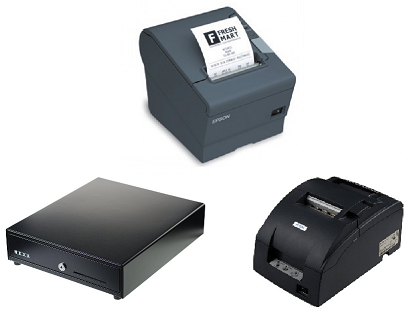 MYOB Kounta hardware bundle with Epson TM-T82II-i intelligent printer, Epson Kitchen printer and cash drawer