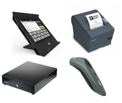 Vend Slide iPad hardware bundle with Epson Printer, Socket mobile scanner and cash drawer