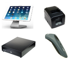 Vend Maclocks iPad hardware bundle with Star TSP650 bluetooth printer and Socket mobile scanner