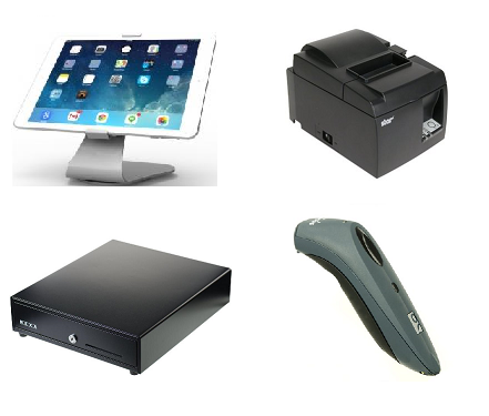 Vend Maclocks iPad hardware bundle with Star TSP100 series printer and Socket mobile scanner