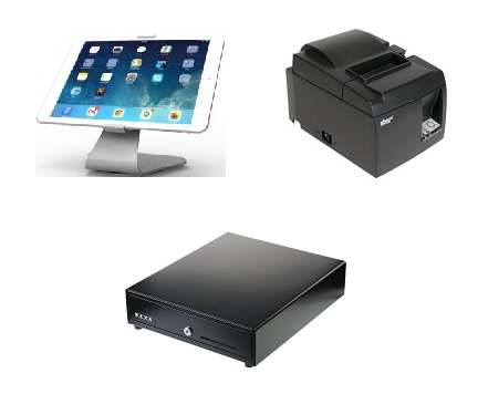 Vend Maclocks iPad hardware bundle with Star TSP100 printer and cash drawer