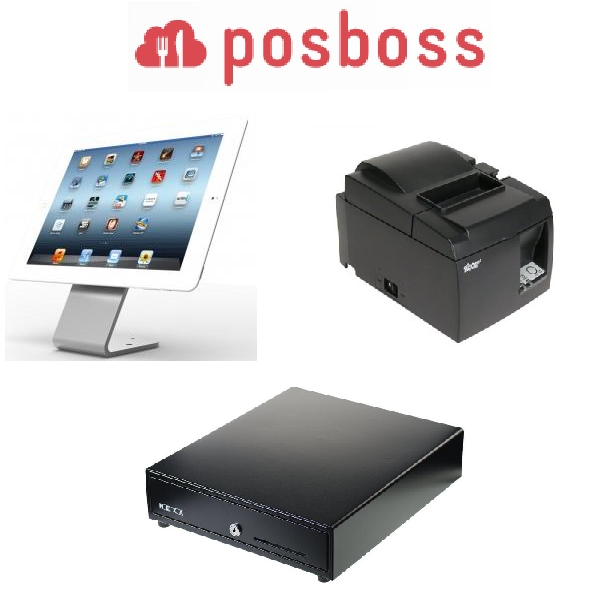 Posboss Hovertab iPad hardware bundle with Star printer and cash drawer