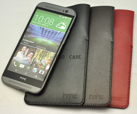 HTC ONE M7 With Pocket Pouch Light & Slim Protect Case Sleeve Bag