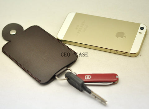 Fashion Keychain for Car Key Protective Sleeve Bag Case Pouch Light and Slim Ultra Fiber Leather