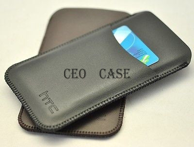 HTC one  Pouch 2 set Protect Case very Slim and Light Sleeve bag with card hold