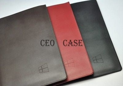 Black Red Light&slim Simple Envelope Leather Case For Microsoft Surface Rt 10.6""