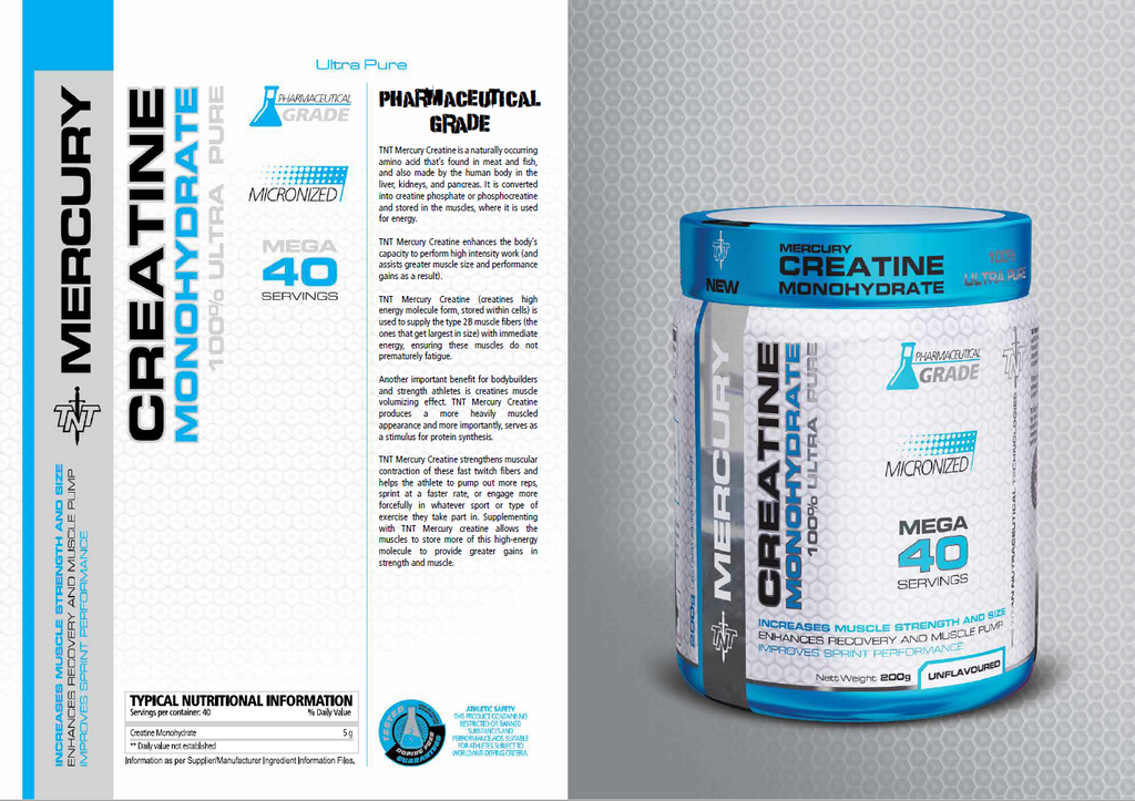 TNT MERCURY CREATINE MONOHYDRATE