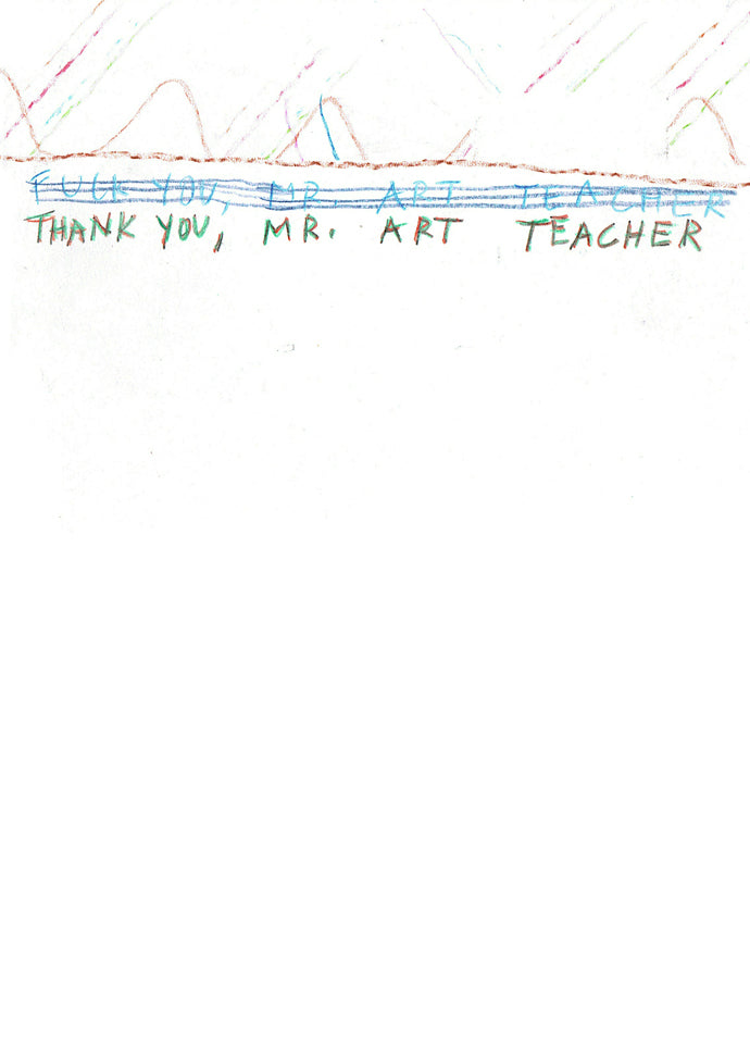 Thank You, Mr Art Teacher