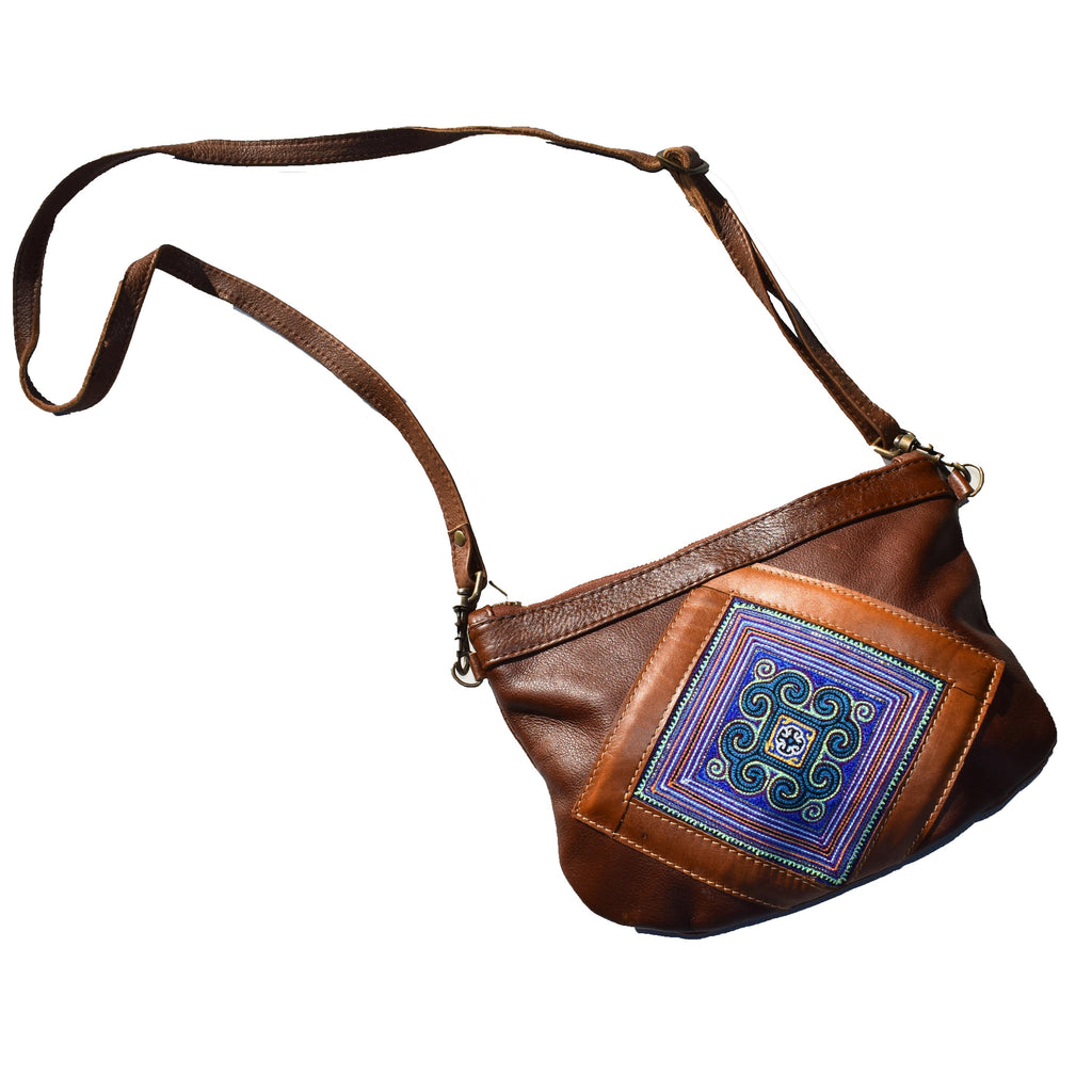 Samantha -cross body with tapestry detail - Mandara bags