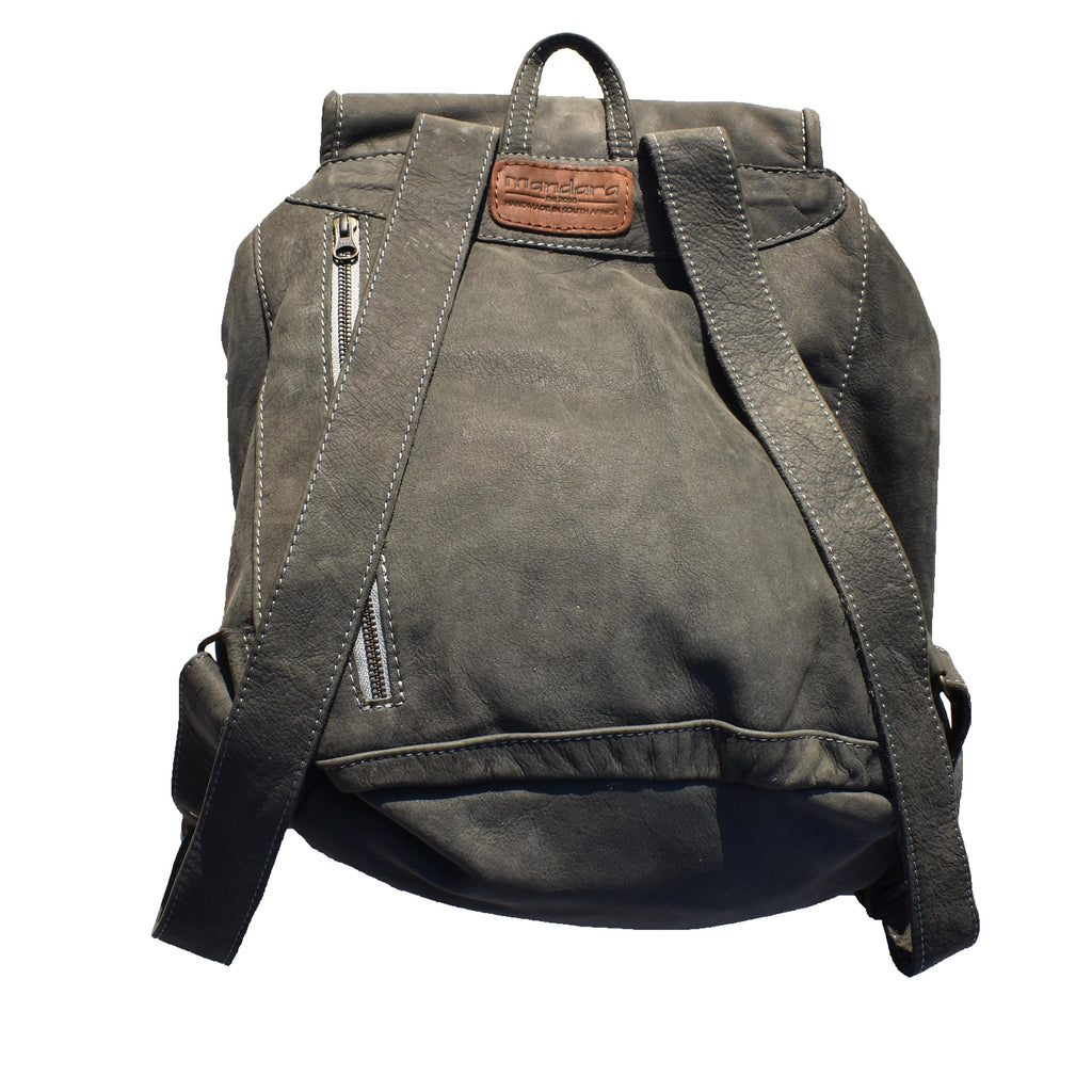 Jordan leather Backpack- matte grey