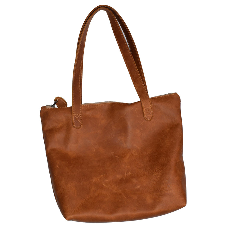 Megan Leather Tote- Diesel toffee