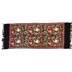 Secret garden chain stitch wool scarf- 005 - Mandara bags