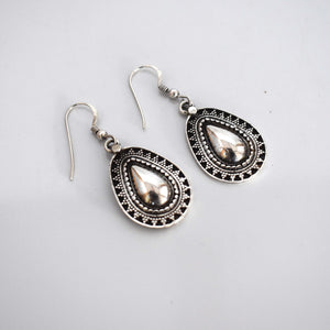 Small silver drop earrings - Mandara bags