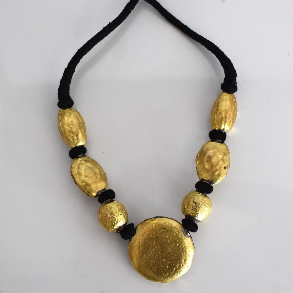 Brass statement beaded necklace-002 - Mandara bags