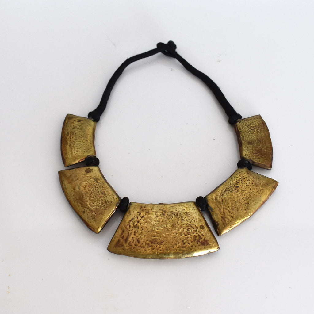 Brass statement beaded necklace-003 - Mandara bags