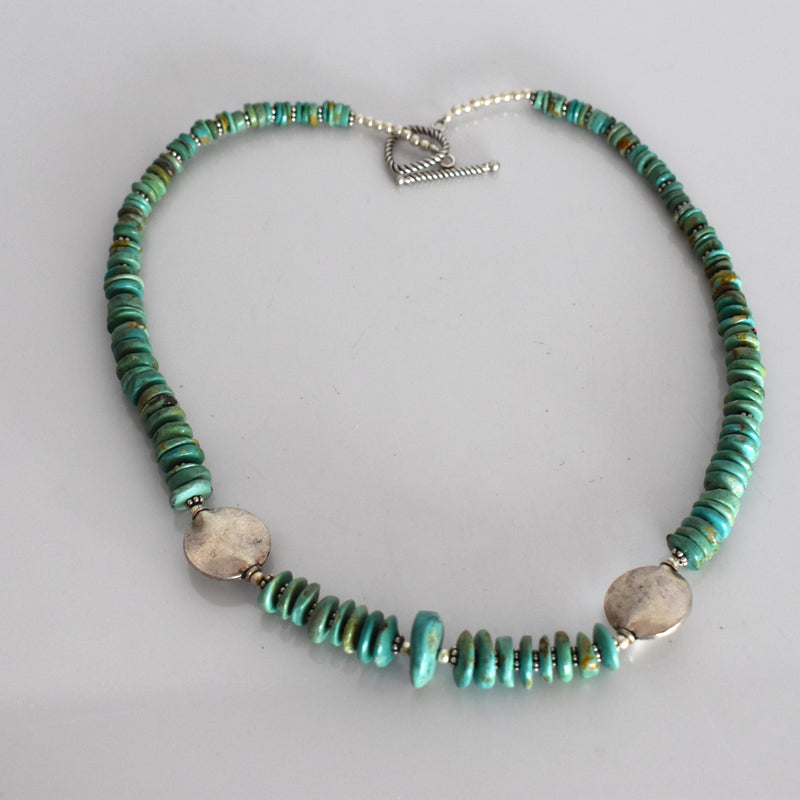 Turquoise beaded necklace - Mandara bags