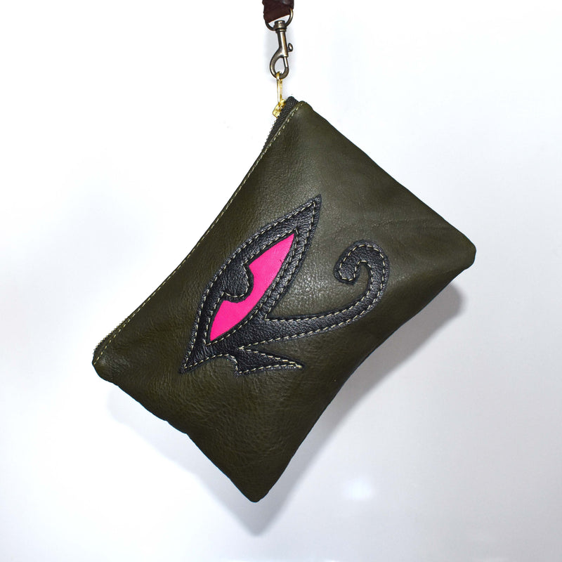 Eye of Horus zip pouch- 003 - Mandara bags