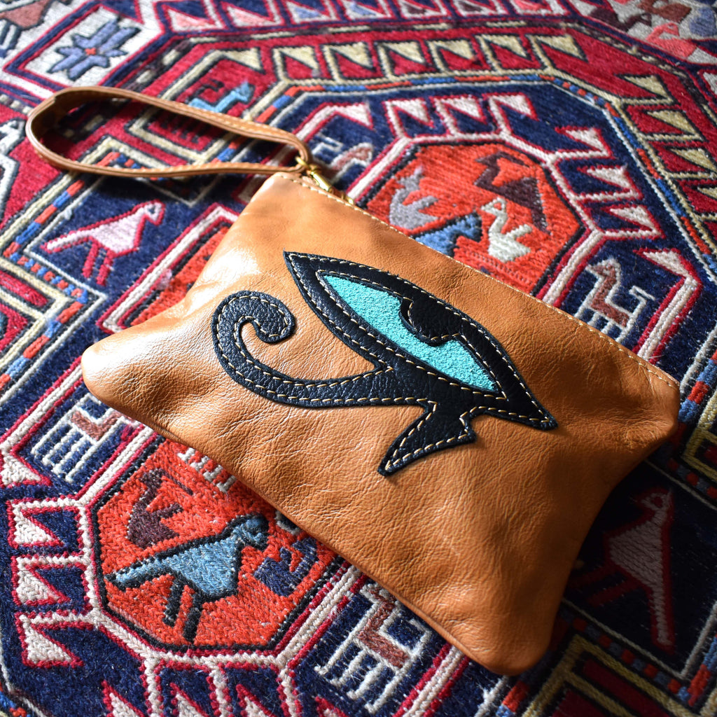 Eye of Horus zip pouch - Mandara bags