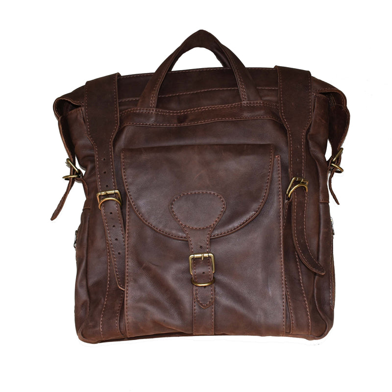 Livingstone slim backpack- brown - Mandara bags