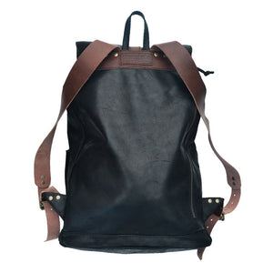 The Colombo backpack in black and brown - Mandara bags