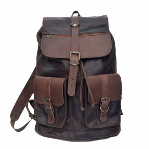 The Colombo backpack in brown - Mandara bags
